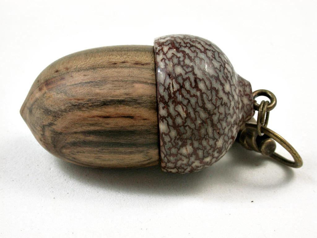 LV-2905 Black Persimmon & Betelnut Acorn Box, Pill Holder, Memorial Pendant-SCREW CAP