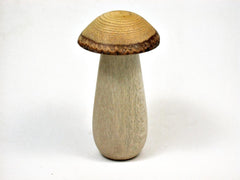 LV-2640 Holly & Wisteria Wooden Mushroom Threaded Box, Urn-SCREW CAP