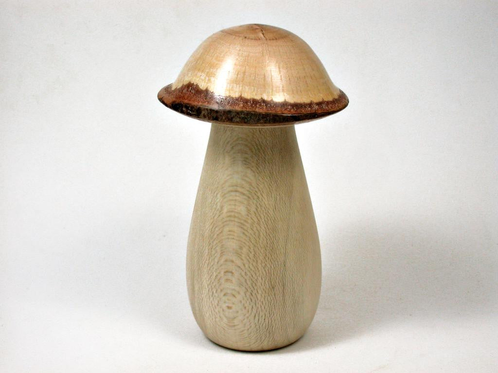 LV-2951  Holly & Live Oak Wooden Mushroom Trinket Box, Pill, Jewelry Box-THREADED
