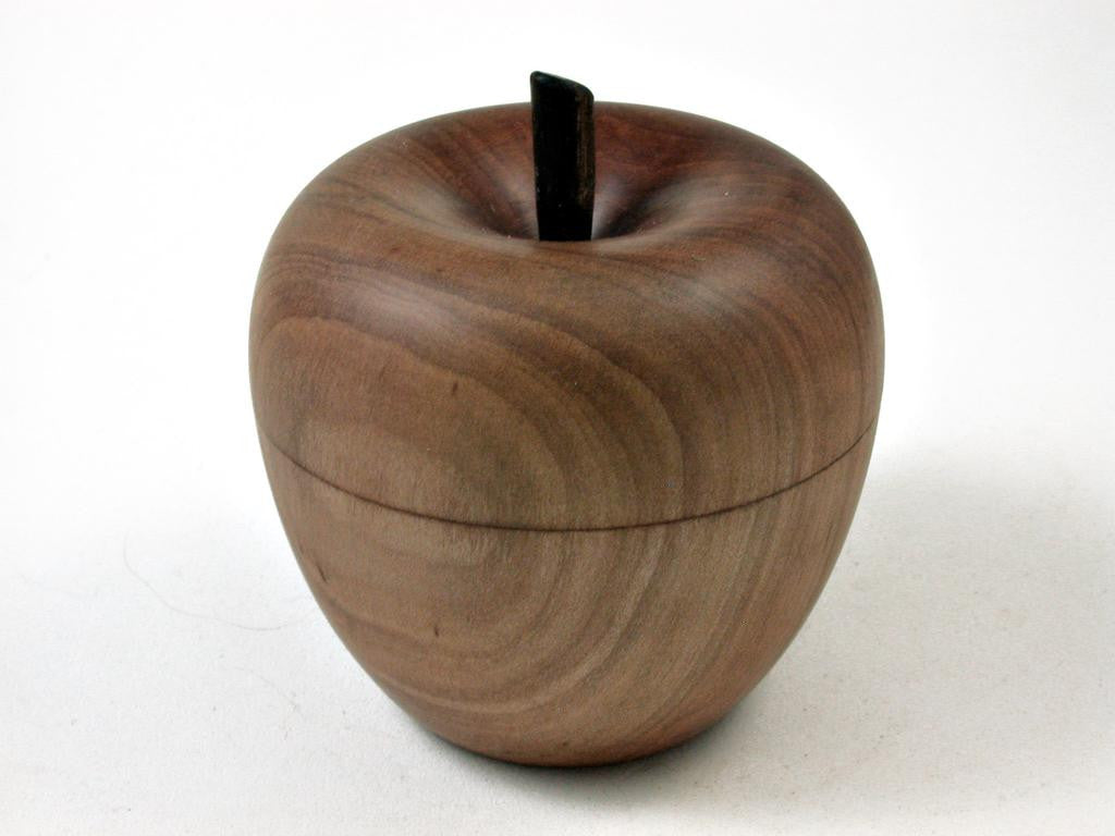 lv-2691 apple wood & ebony stem wooden apple threaded box-screw
