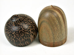 LV-2944 Wooden Acorn Jewelry, Ring Box, Pill Box  from Verawood & Black Palm-SCREW CAP