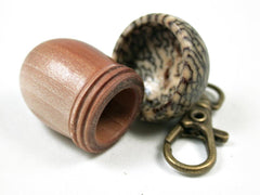 LV-3173 Manzanita & Betel Nut Acorn Pendant Box, Charm, Pill Holder-SCREW CAP