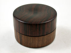 LV-3131  Cocobolo & Tamboti  Flat Pill Box, Ring Holder, Jewelry Box-SCREW CAP