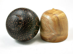 LV-2263  Osage Orange & Black Palm Acorn Jewelry, Ring Box, Pill Box, Trinket Box-SCREW CAP