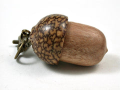 LV-3004  Perfume Wood & Betel Nut  Acorn Box, Pill Holder, Compartment Pendant-SCREW CAP