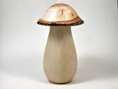 LV-2950  Holly & Live Oak Wooden Mushroom Trinket Box, Pill, Jewelry Box-THREADED