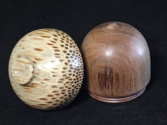 LV-1196 Sandalwood & Royal Palm Wooden Acorn Trinket Box, Keepsakes, Jewelry Box-SCREW CAP