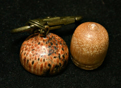 LV-1252 Sandalwood & Hala Acorn Box, Keychain/Bag Charm, Cremation Jewelry-SCREW CAP