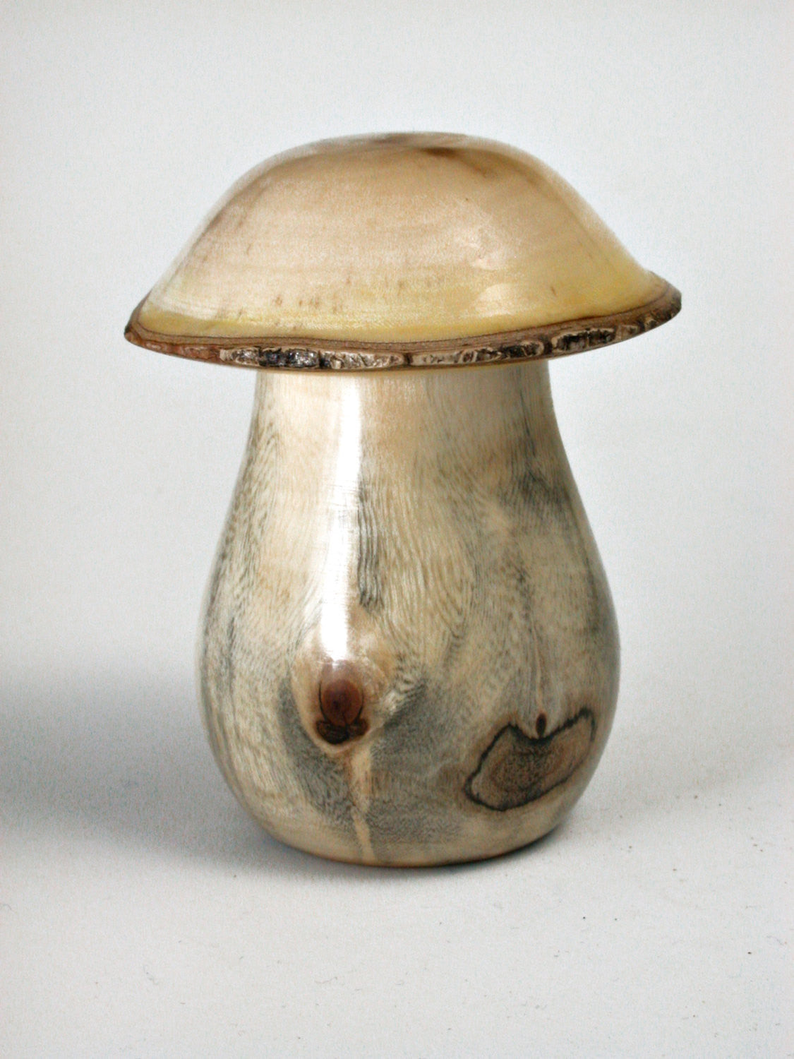 LV-1427 New Zealand Tarata Mushroom Shaped Trinket Box, Toothpick Holder, Jewelry Box-SCREW CAP