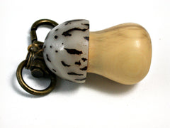 LV-1432 Boxwood & Palm Nut Mushroom Charm, Secret Compartment Memorial Pendant-SCREW CAP