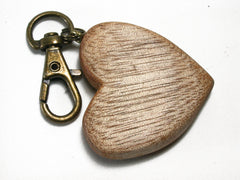 LV-1454  Primavera Wooden Heart Shaped Charm, Keychain, Unique Hand Made