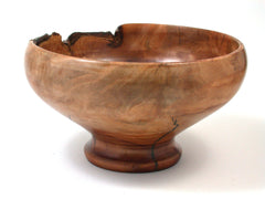 LV-334 Plum Burl Hand Turned Wooden Bowl, Vase-NICE