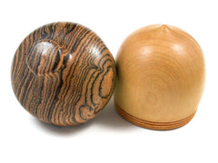 LV-1566 Quillabordon & Bocote Hand Turned Acorn Trinket Box, Keepsakes, Jewelry Box-SCREW CAP