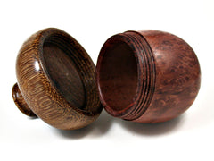 LV-1574  Redwood Burl & Brownheart Wooden Acorn Trinket Box, Keepsakes, Jewelry Box-SCREW CAP