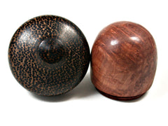 LV-1571 Redwood Burl & Black Palm Acorn Trinket Box, Keepsakes, Jewelry Box-SCREW CAP