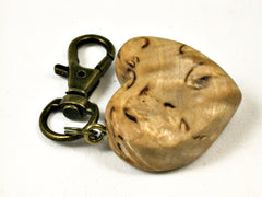 LV-1597 Masur Birch Wooden Heart Shaped Charm, Keychain, Wedding Favor-HAND CARVED