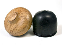 LV-1615 Ancient Bog Oak & Brown Oak Wooden Acorn Trinket Box, Keepsake, Jewelry Box-SCREW CAP