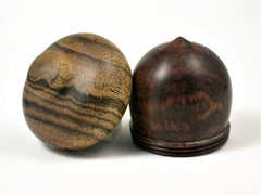 LV-1664 Snakewood & Bocote Acorn Trinket Box, Keepsake, Jewelry, Ring Box-SCREW CAP