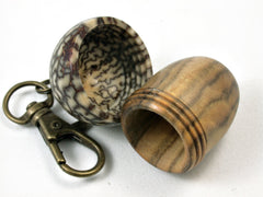 LV-1698  Chinese Pistachio  and  Betelnut Acorn Key Fob, Pill Holder, Cash Stash-SCREW CAP