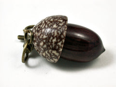 LV-1716 Bois de Rose & Betelnut Acorn Key Fob, Pill Holder, Cash Stash-SCREW CAP