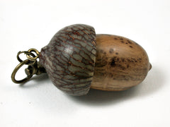 LV-1719  Olive Burl & Betelnut Acorn Key Fob, Pill Holder, Cash Stash-SCREW CAP