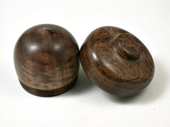 LV-1712 Satinwood & Ironwood  Acorn Trinket Box, Keepsake, Jewelry Box-SCREW CAP