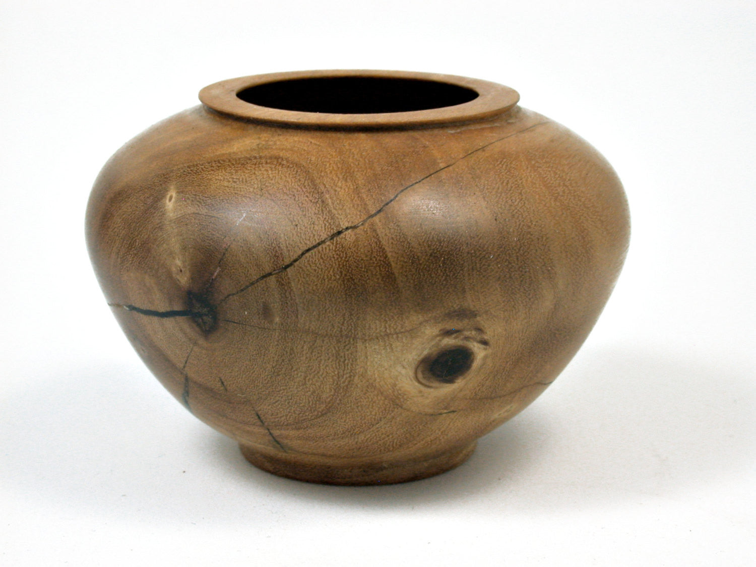LV-0325 Red Mangrove Hand Turned Wooden Bowl, Vase, Hollow Form-RARE