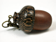 LV-1789 Manzanita & Black Palm Wooden Acorn Key Fob, Pill Holder, Cash Stash-SCREW CAP