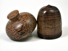 LV-1792 Koa & Coconut Wooden Acorn Trinket Box, Keepsake, Jewelry, Ring Box-SCREW CAP