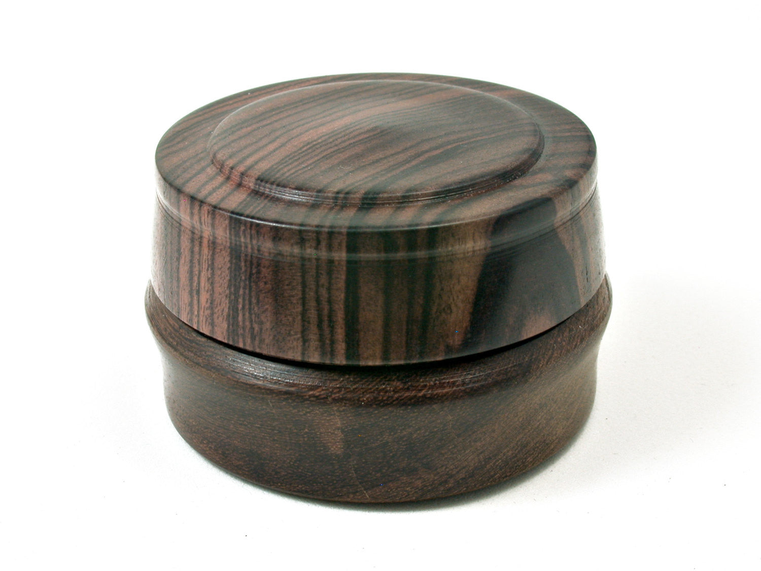 LV-1804  Partridgewood & Kingwood Flat Pill Box, Ring Holder, Jewelry Box-SCREW CAP