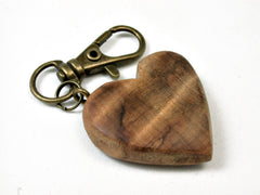 LV-1735 Japanese Sugi Wooden Heart Shaped Charm, Keychain, Wedding Favor-HAND CARVED