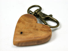 LV-1748  West Indie Satinwood Wooden Heart Shaped Charm, Keychain, Wedding Favor-HAND CARVED