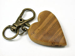 LV-1743 Osage Orange Wooden Heart Shaped Charm, Keychain, Wedding Favor-HAND CARVED