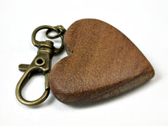 LV-1736  Ancient Kauri Wooden Heart Shaped Charm, Keychain, Wedding Favor-HAND CARVED