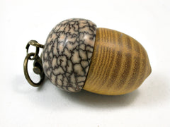 LV-1856 Osage Orange & Betelnut Acorn Charm, Pill Holder, Cash Stash-SCREW CAP