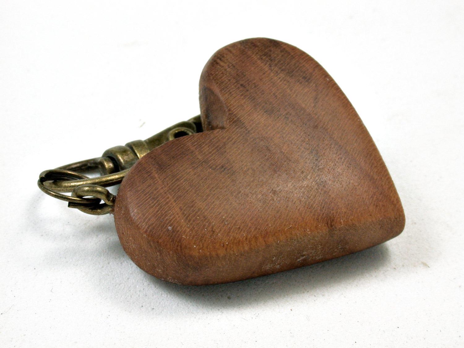 LV-1739 Yoshino Cherry Wooden Heart Shaped Charm, Keychain, Wedding Favor-HAND CARVED