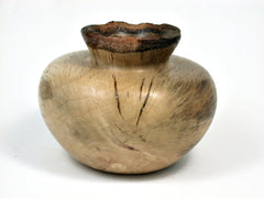 LV-1794 Coast Live Oak Wood Turned Vessel, Weed Pot, Hollow Form, Vase with Natural Edge