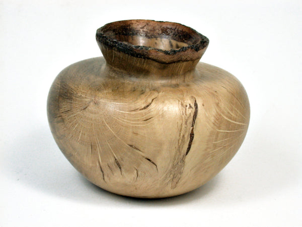 Lv 1794 Coast Live Oak Wood Turned Vessel Weed Pot