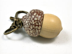 LV-1901 Boxwood & Betelnut Acorn Pendant Charm, Pill Holder-SCREW CAP