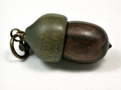 LV-1903 Ebony & Verawood Acorn Pendant Charm, Pill Holder, Cash Stash-SCREW CAP