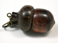 LV-1889 Desert Ironwood & Palm Nut Acorn Pendant Charm, Pill Holder-SCREW CAP