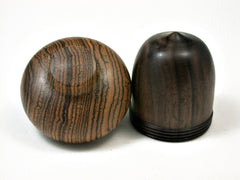 LV-1914 Mun Ebony & Bocote Wooden Acorn Trinket Box, Keepsakes, Jewelry Box-SCREW CAP