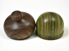 LV-1930 Verawood & Tambooti Wooden Acorn Trinket Box, Keepsake, Jewelry Box-SCREW CAP