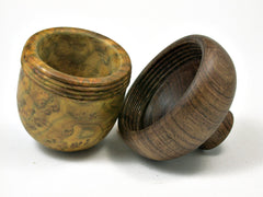 LV-1916 Chittum Burl & Tambooti Wooden Acorn Trinket Box, Keepsakes, Jewelry Box-SCREW CAP