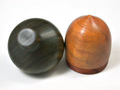 LV-1944 Sappanwood & Verawood  Acorn Ring Box, Pill Box, Trinket Box-SCREW CAP