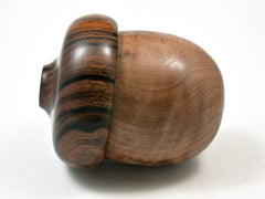 LV-1954 Wooden Acorn Box from Redwood Burl & Desert Ironwood-SCREW CAP