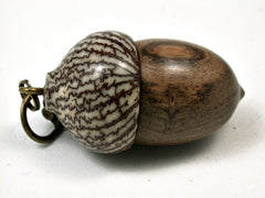 LV-1981 Acorn Pendant Box, Charm, Pill Holder from Cocuswood & Betelnut-SCREW CAP