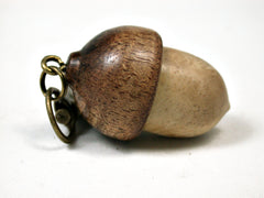 LV-1988 Acorn Pendant Box, Charm, Pill Holder from Box Elder Burl & Koa-SCREW CAP