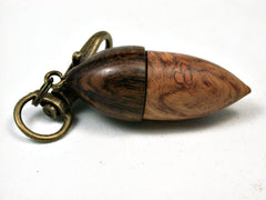 LV-1982 Acorn Pendant Box, Charm, Pill Holder from Amboyna Burl & Ironwood-SCREW CAP