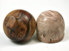 LV-2006 Virginia Ironwood Burl & Desert Ironwood Acorn Trinket Box, Keepsake, Jewelry Box-SCREW CAP